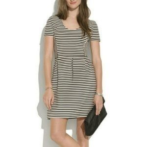 Madewell Striped Black and White Bistro Dress